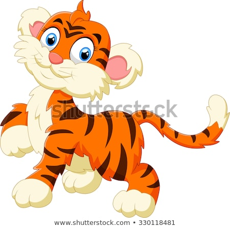 счастливым тигр иллюстрация дизайна искусства Сток-фото © bluering