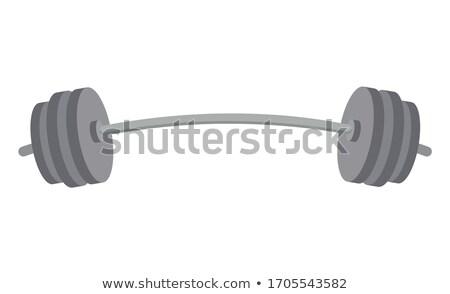 Barbell zwaar instrument gymnasium vector Stockfoto © robuart