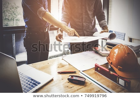engineer with architectural plans stock photo © photography33