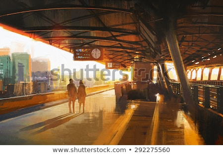 Couple waiting for the train Stock photo © photography33