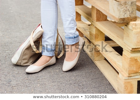 Woman flat shoes Stock photo © szefei