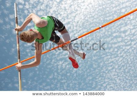 ポール ボールト 女性 フィールド バー 勝者 ストックフォト © Sportlibrary