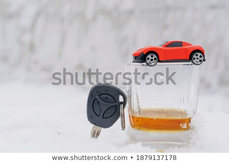 whiskey neat with a car key stock photo © calvste