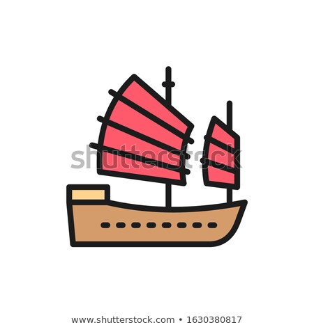 oriental junk boats stock photo © elenarts