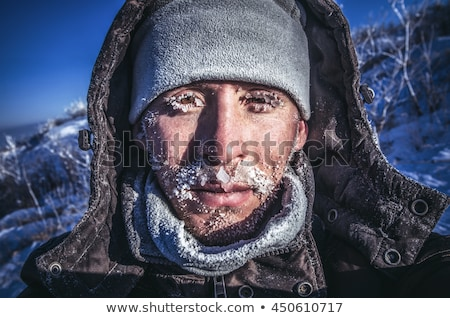 Frosted face and ice. Stock photo © Fisher