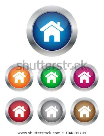 abstract shiny metalic home button  Stock photo © pathakdesigner