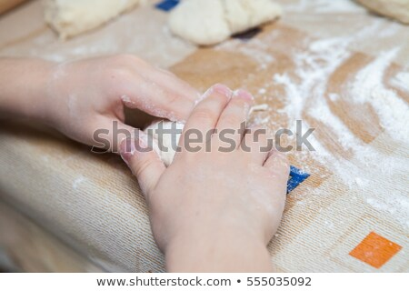 childrens desk with flour Stock photo © gewoldi