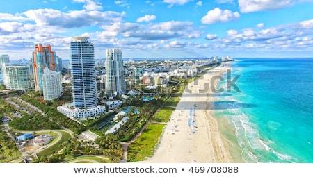 napos · tengerpart · város · Miami · Florida · égbolt - stock fotó © prill