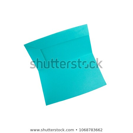 Green papper folder isolated on white Stock photo © ozaiachin