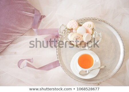 piros · tulipánok · csésze · tea · fotó · friss - stock fotó © ivonnewierink