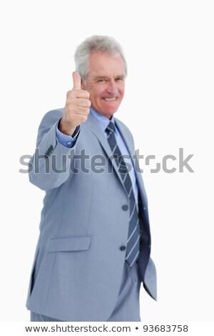 kereskedő · jóváhagyás · fehér · férfi · üzletember · vállalati - stock fotó © wavebreak_media