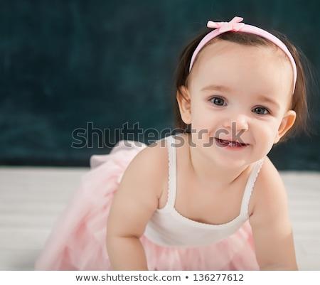 Stock fotó: Portré · egyéves · baba · visel · balett · öltöny