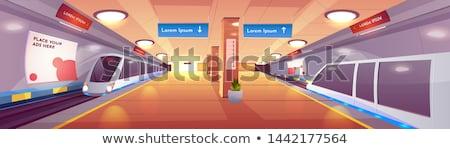 Estação de trem cidade assinar tráfego transporte direção Foto stock © ABBPhoto