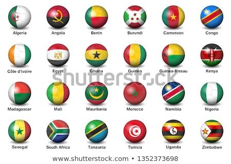 Vlag Zimbabwe schaduw witte achtergrond zwarte Stockfoto © claudiodivizia