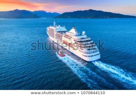 роскошь · паруса · лодках · закат · красивой · оранжевый - Сток-фото © lunamarina
