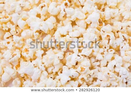popcorn · hoop · geïsoleerd · witte · textuur · voedsel - stockfoto © taden