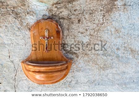 Détail main eau Palm église Photo stock © MKucova