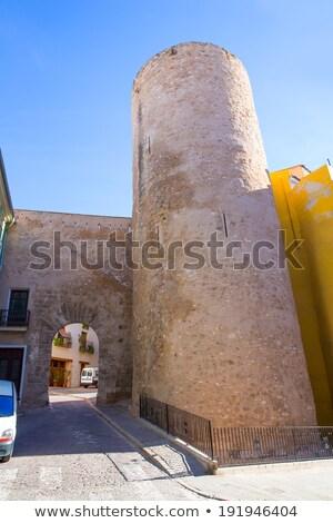 La portal Espanha edifício construção parede Foto stock © lunamarina