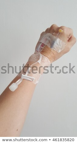 Coffee IV into Woman's Arm Stock photo © saje