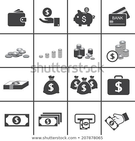 кошелька · монетами · изолированный · белый · банка · кожа - Сток-фото © restyler