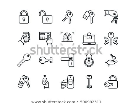 Chave digital senha casa porta empresário Foto stock © Lom