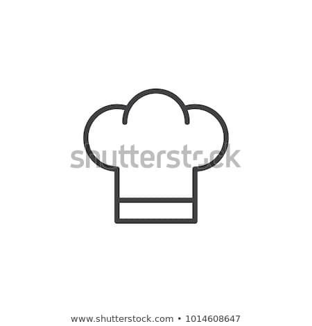 white chefs hat icon stock photo © mayboro