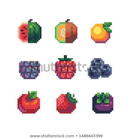 Foto stock: Mosaico · frutas · frambuesa · blanco · desierto · verano