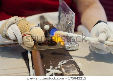 Productie formatie bal gas vrouw hand Stockfoto © wjarek