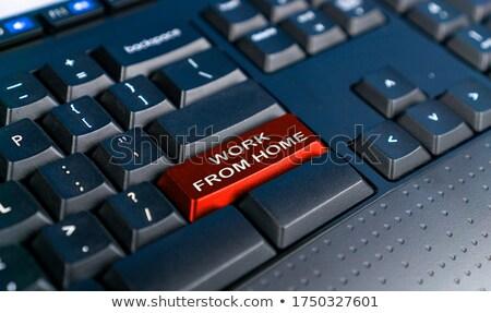 Vivir apoyo rojo teclado botón Foto stock © tashatuvango