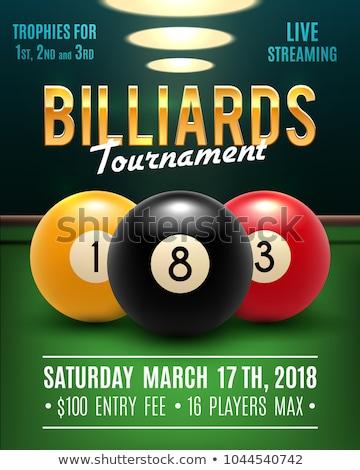 Snooker asztal poszter biliárd labda piros Stock fotó © leonido