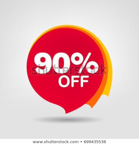 procent · prijs · verkoop · tag · drie - stockfoto © kiddaikiddee