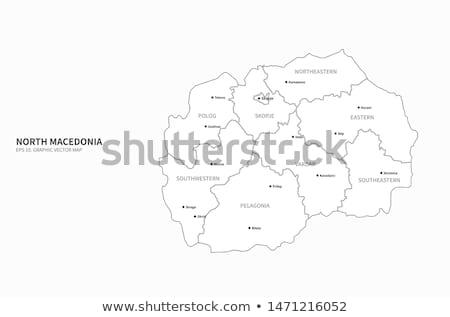 Térkép Macedónia különböző betűk fehér vág Stock fotó © mayboro1964
