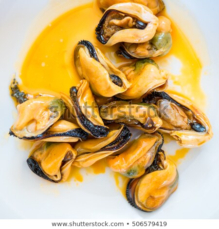 Stock photo: Marinated mussels