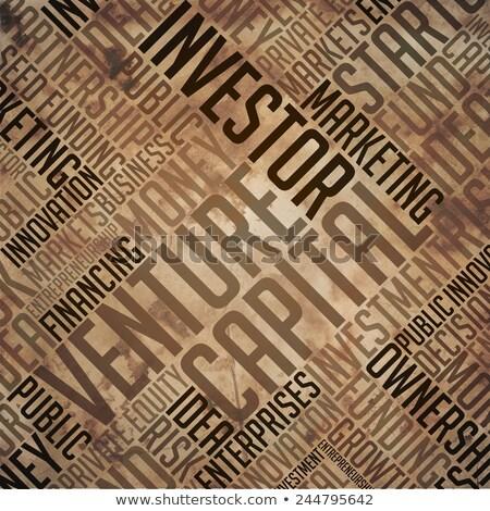 startup   grunge word collage in brown stock photo © tashatuvango