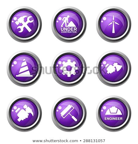 строительство · инструменты · фиолетовый · вектора · кнопки · икона - Сток-фото © rizwanali3d