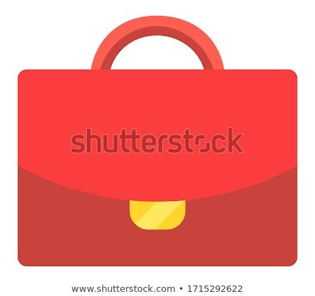 office bag red vector icon design stock photo © rizwanali3d