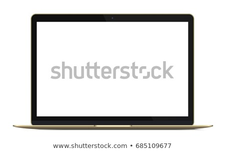 Laptop golden Vector Icon Design Stock photo © rizwanali3d