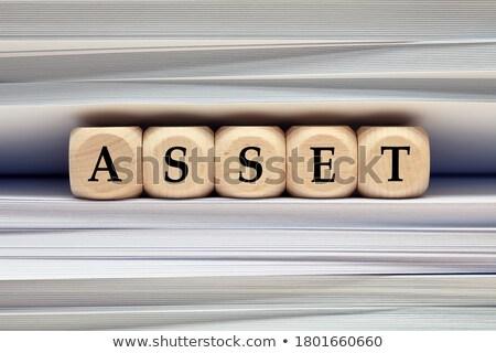 Majątek słowo folderze karty selektywne focus finansów Zdjęcia stock © tashatuvango