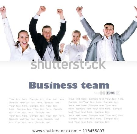 Grupo jovem povos mãos isolado branco Foto stock © tetkoren