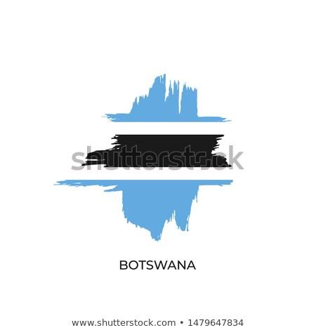Ботсвана стране флаг карта форма текста Сток-фото © tony4urban