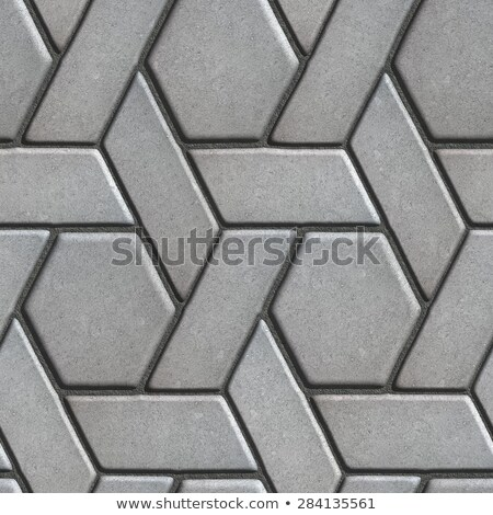 Gray Paving Slabs Built of Rhombuses and Rectangles.  Stock photo © tashatuvango