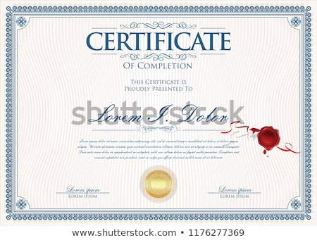 vintage certificate of achievement with ornate elegant retro abs stock photo © morphart