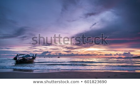 Clouds and Waves in the Twilght Stock photo © wildnerdpix