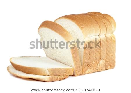 Egy szelet fehér kenyér étel kenyér búza Stock fotó © ozaiachin