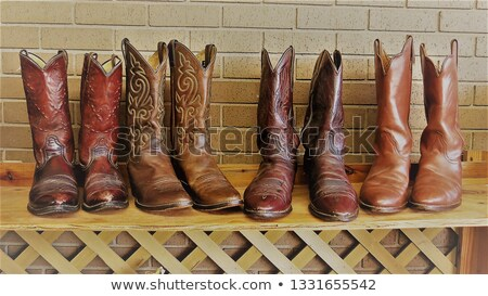 used shoes market pattern rows second hand Stock photo © lunamarina