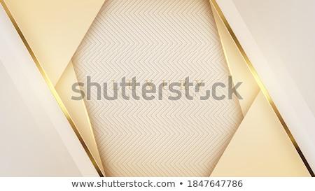 Absztrakt arany keret boldog terv fém Stock fotó © gladiolus