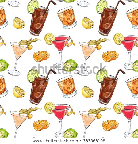 Color pattern contemporary classics cocktails Stock photo © netkov1