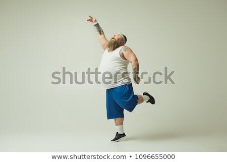 yoga man on one leg Stock photo © Paha_L