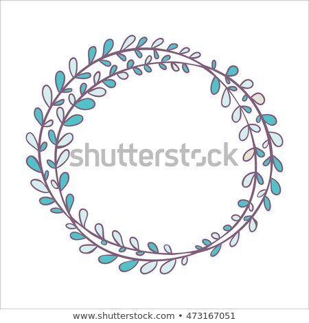 синий зима декоративный кадр вектора шаблон Сток-фото © lenapix