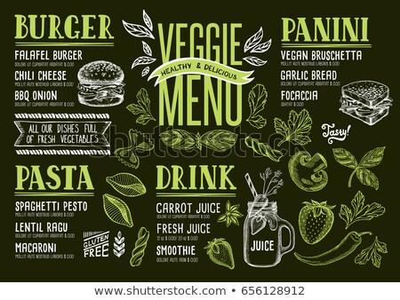 vegan menu Stock photo © adrenalina
